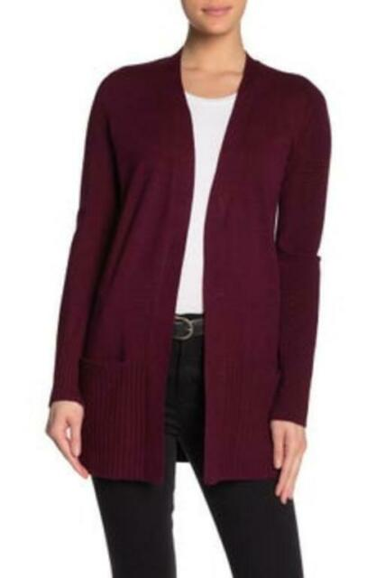 Disarmo grotta riavvolgere  Devotion by Cyrus Ribbed Open Knit Cardigan Womens Size Small Burgundy Red  for sale online | eBay