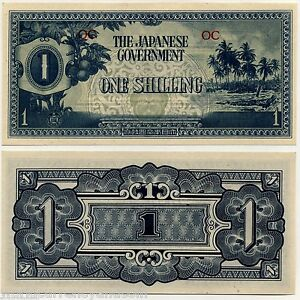 OCEANIA-1-SHILLING-P2-1942-NON-EXISTING-COUNTRY-AUNC-JAPAN-JIM-WW-WAR-MONEY-NOTE