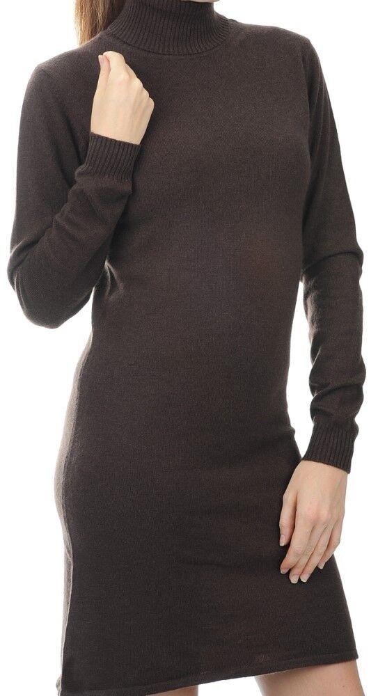 Balldiri 100% Cashmere Damen Kleid Rollkragen  2-fädig cappuccino M