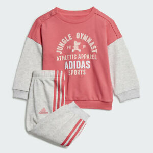 Adidas-Enfant-Filles-Graphique-Terry-Jogger-Survetement-Enfants-Ensemble-ED1171