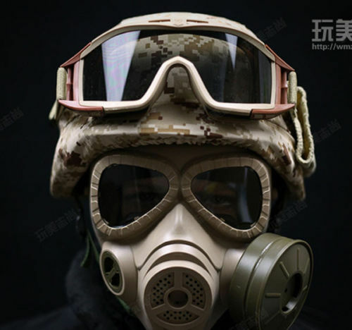 Tactical Airsoft CS Wargame Cosplay M88 Helmet DUMMY M04 Gas Mask Goggles MUD