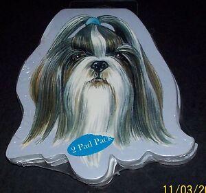 Shih Tzu Dog Breed 2 pk Sticky Notes 100 sheets total == 25