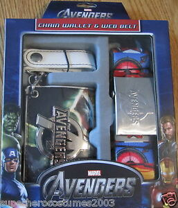 The-Avengers-Wallet-and-Belt-Set-Marvel-Comics-Brand-New