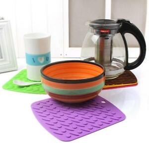 Image Is Loading 1PC Pot Holder Hot Pad Kitchen Mat Silicone