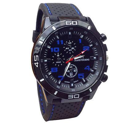 2015 Sport Mens Watch Military Casual Wristwatch Silicone Fashion Black Watch