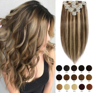 Aaaa Real Long Clip In Remy Human Hair Extensions Full Head