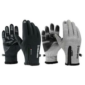 Men-Women-Fleece-Touch-Screen-Snow-Ski-Windproof-Waterproof-Outdoors-Gloves-ND