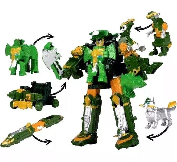Power rangers ninja - deluxe rumble tusk megazord grüne mega - zord sterne - star