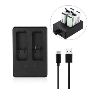 Dual-Battery-Charger-for-GoPro-HERO5-HERO-5-AHDBT-501-Black-w-USB-Type-C-Cable