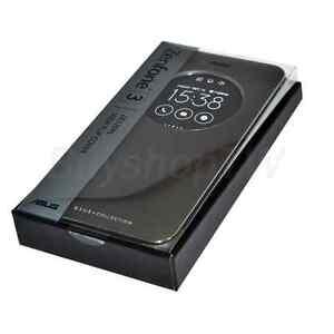 save off 93cdd ab3d4 Szczegóły o ASUS Original Zenfone 3 5.2in View Flip Cover Case ZE520KL Black