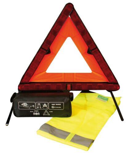 Triangolo Nano e Gilet d/'emergenza per auto Kit Sicurezza omologato