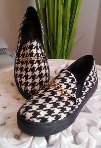 Details zu Heine Slipper Gr. 37 39 schwarz weiß Schuhe