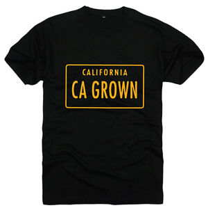 Black-amp-Yellow-Ca-Grown-California-license-plate-t-shirt-Fast-shipping