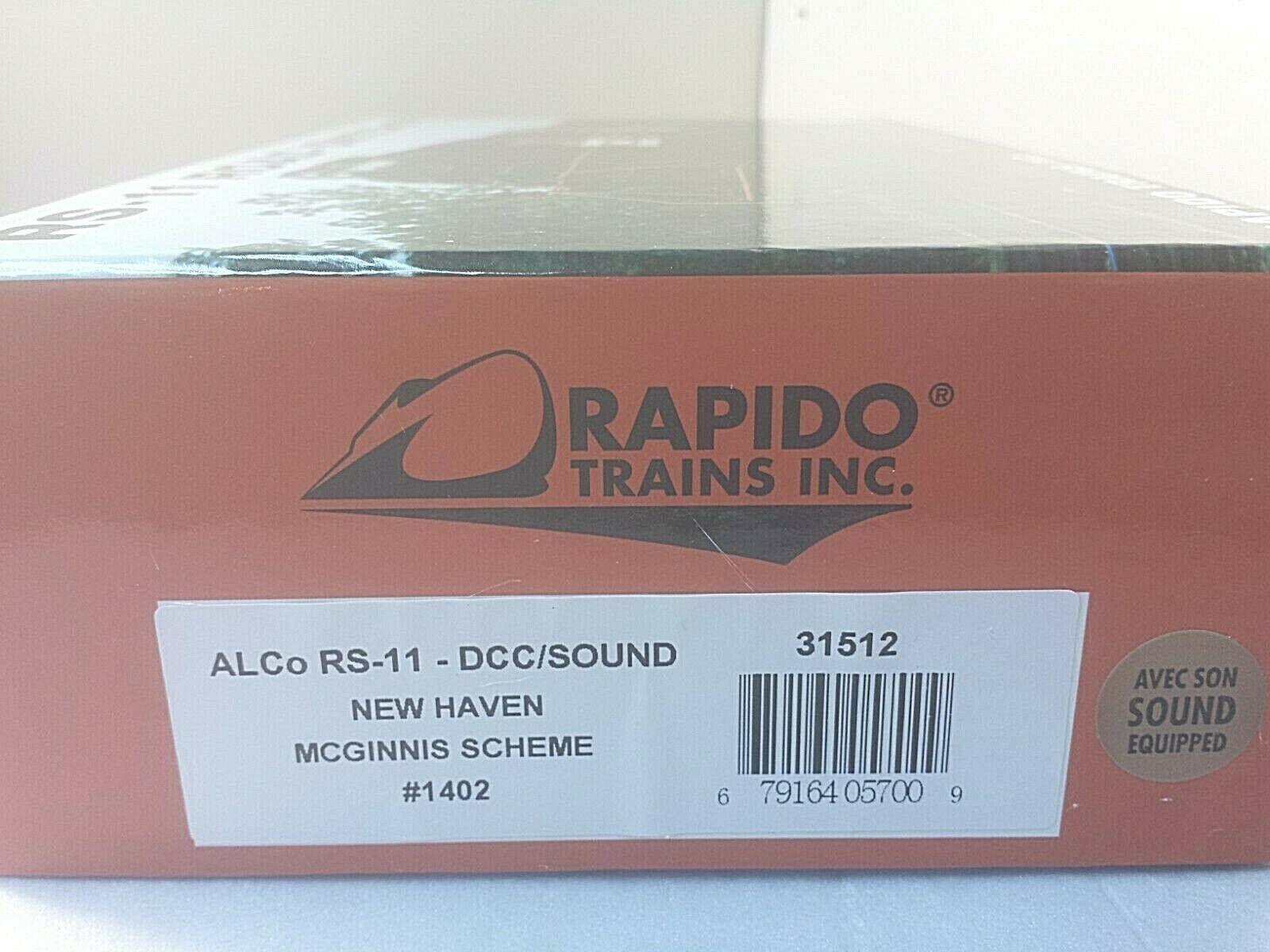 Rapido HO 031512 ALCO RS11  nuovo Haven  1402 mcginnis NUOVO DCC Loksuono &