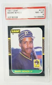 Barry-Bonds-1987-Leaf-219-Graded-PSA-8-NM-MT-Pittsburgh-Pirates