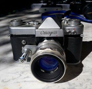NICE-lot-of-5-vintage-cameras-Yashica-Start-Zenith-Fujica-one-28-2-8-Cosina