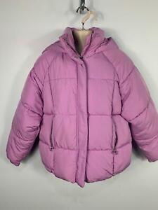 Le-Ragazze-Zara-Luce-Viola-Imbottito-Inverno-Cappuccio-Giacca-Impermeabile-Bambini-Eta-11-12-anni