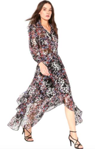 Misa Los Angeles Katja Dress (Small, Black Floral)