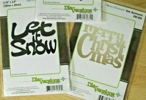 Poinsettia Merry Christmas Die-Versions Christmas Cutting Dies Let it Snow