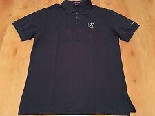 New Rare Ralph Lauren Purple Label  Cotton Golf Polo Shirt M Blue 2001 Golf