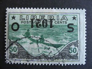 LIBERIA O136 U with inverted overprint, a nice stamp here, check it out!