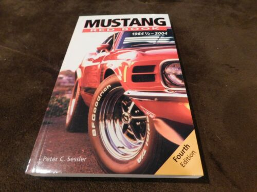 1964-2004 FORD MUSTANG RED BOOK MANUAL W VIN AND TAG ID PRODUCTION NUMBERS /&