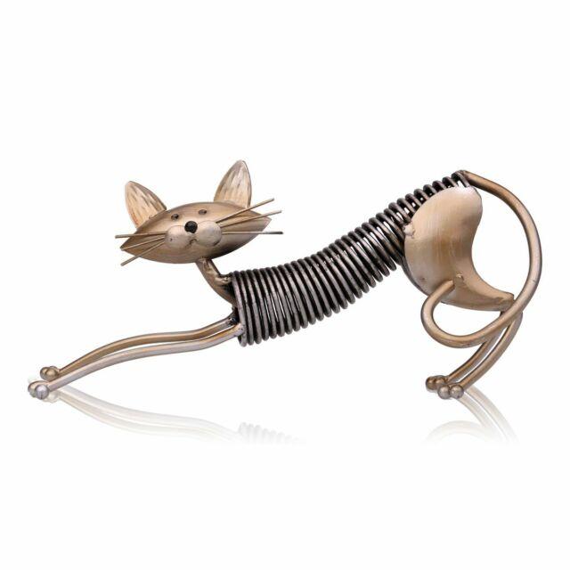 TOOARTS Metal Sculpture   Iron Art Cat   Spring made cat   Handicraft C4Q4