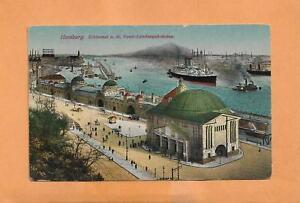 HAMBURG-GERMANY-1922-KARLSRUHE-VINTAGE-POSTCARD