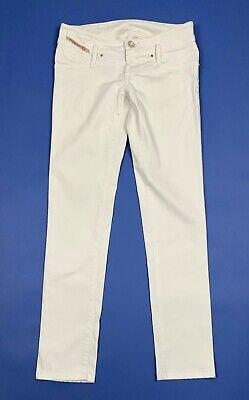 Capace Diesel Matic Jeans Pantalone Donna Usato W26 Tg 40 Slim Skinny Bianco T5495 Rendere Le Cose Convenienti Per I Clienti