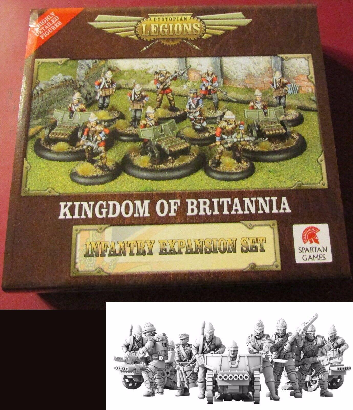Dystopian Legions DLKB43 Kingdom of Britannia Infantry Expansion Set Weapon Team