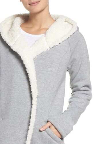 Zella Grå Xl Chalet Wrap Fleece I Ny Størrelse Lined Hooded 0dSwn6q
