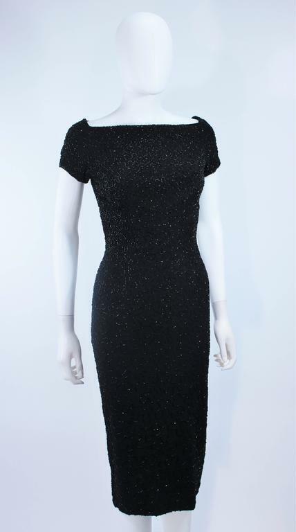 CEIL CHAPMAN Black Beaded Cocktail Dress Size 2 - image 7