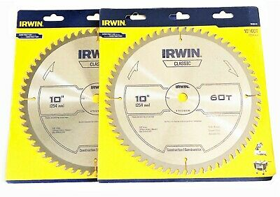 "2 VULCAN 10/"" CARBIDE 28 TOOTH CIRCULAR TABLE MITER SAW BLADES 28T 9167"