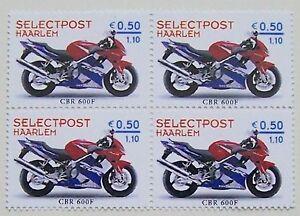 Local City Post Haarlem 2001 Block Of 4 Motorcycles Honda Cbr 600f Mnh Ebay