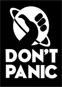 Don T Panic Decal Hitchhiker S Guide To The Galaxy Movie Car Vinyl