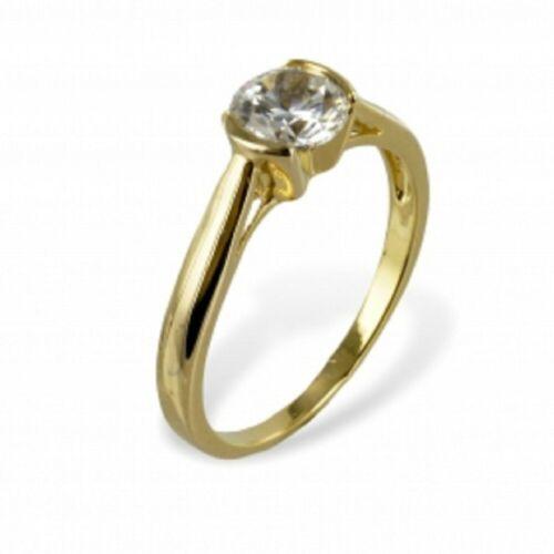 Gold Double Damen Ring mit  Zirkonia weiß 6mm  Gr.18 vergoldet 18 Kt