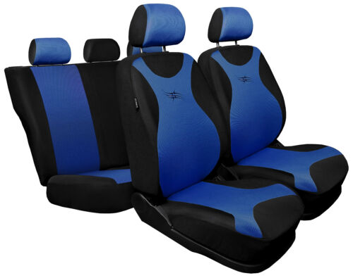 Car seat covers fit Vauxhall Agila black//blue full set