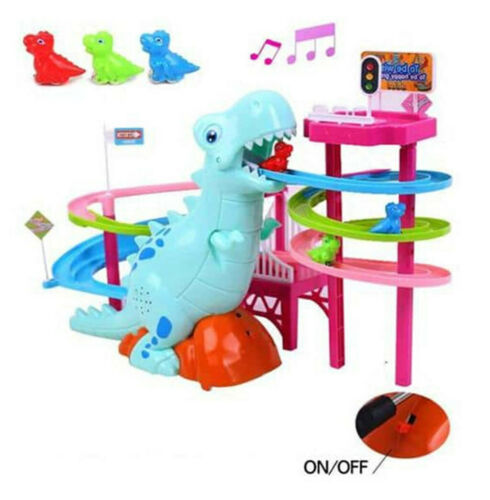 Musical Dinosaur LED Light Race Adventure Puzzle Toy Birthday Christmas Gifts