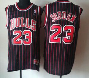 participar sitio Gran engaño  JORDAN CAMISETA DE LA NBA DE LOS BULLS NEGRA CON RAYAS ROJAS. TALLA 3XL. |  eBay