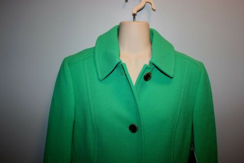 JCrew Double-Cloth Wool Lady Day Coat Thinsulate 4 Emerald 49622