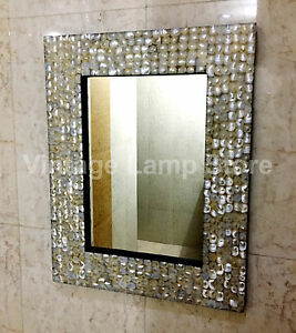 Image Is Loading Mother Of Pearl Frame Wall Hanging Mirror Accessories