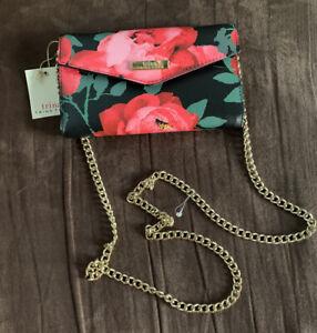 TRINA TURK Pink Rose Chain Crossbody NWT Gorgeous