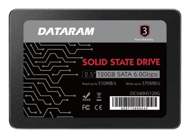 DATARAM 120GB 2.5 SSD Drive Solid State Drive Compatible with MSI Z270 SLI