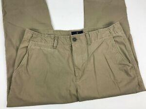 AE-American-Eagle-SLIM-Straight-KHAKI-Chino-COTTON-Pants-MEN-039-S-Casual-Sz-34x30