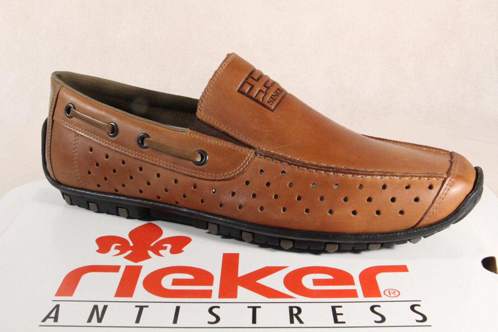 Rieker 08969 Herren Slipper Sneakers Halbschuhe 08969 Rieker braun Echtleder  NEU f41c16