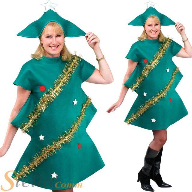 Adult Christmas Tree Xmas Festive Fancy Dress Costume Mens Ladies Unisex Outfit  sc 1 st  eBay & Unisex Xmas Tree Costume for Christmas Festive Fancy Dress Outfit ...