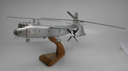 Kamov Ka22 Transport Gyrodyne Helicopter Mahogany Kiln Dry Wood Model Large New