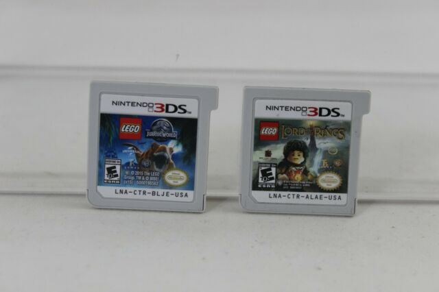 LEGO Jurassic World & The Lord of the Rings (Nintendo 3DS, 2015) Authentic LOT