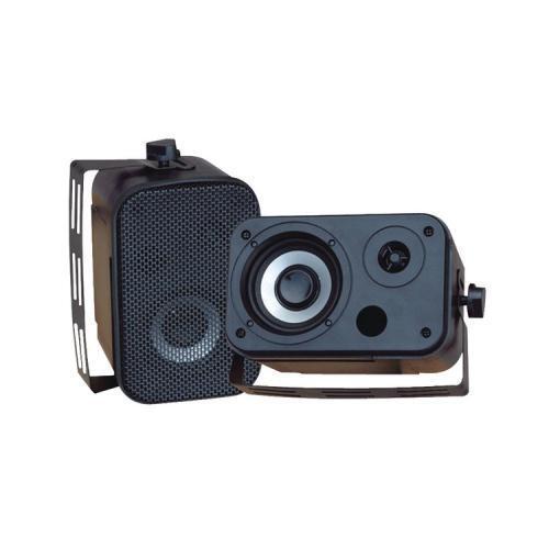 Pyle PDWR30B 3.5'' Indoor/Outdoor 150W RMS Waterproof Speakers - Black (Pair)