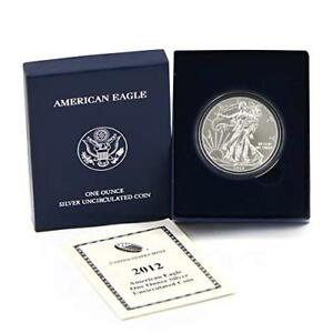 2012-W Proof $1 American Silver Eagle Box OGP /& COA